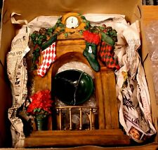 Yankee Candle Christmas Mantle Stockings Clock Poinsetta Tart Burner Warmer