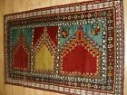 Old Turkish Mudjur Multi Niche Saf Prayer Rug, Velvet Like Wool, Circa 1920.