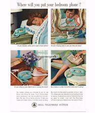 1963 Bell Blue Princess Telephone Vtg Print Ad