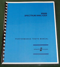 HP 8566B Performance Tests & Adjustments Manual: Comb Bound & Protective Covers