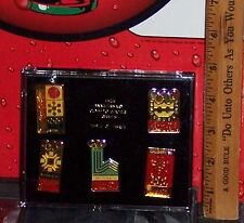 COCA - COLA 15TH ANNIVCERSARY WINTER OLYMPIC GAMES COLLECTOR'S PIN SET IN CASE