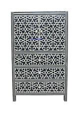 Handmade Natural Bone inlay Black Armoires & Wardrobes