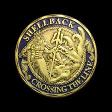 Shellback US Navy Marine Corps Challenge Coin BB100