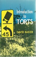 Introduction To Torts by Baker David - Book - Soft Cover - Australian Legal/Law