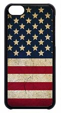 American USA Flag Grunge Pattern Black or White Case Cover For Apple iPod 4 5 6