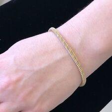 Stunning Classy Lovely Two Tone Flex 18KY Gold Ladies Italian bracelet