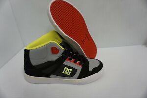 Garçons DC skate shoes spartan high Gris Rouge Taille 5.5 Jeunesse US