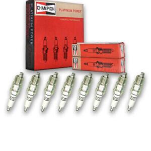 8 pc Champion Platinum Spark Plugs for 1971-1992 Chevrolet Camaro 4.4L 5.0L cy