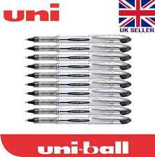 10 x Uni-ball Vision Elite UB-200 0.8mm Tip Rollerball Black Pen