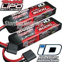 (2) Traxxas 2872X 3S 11.1V 5000 LiPo Batterys w/iD Connector: E-MAXX BRUSHLESS