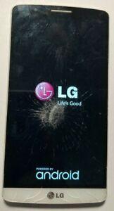LG G3 D855 32GB Black (AT&T) Smartphone PARTS REPAIR Boot Loop Crack