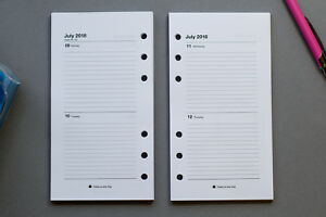 2021-2022 Personal Size Refill | 2-Days-per-Page | Fits Filofax START ANY MONTH!