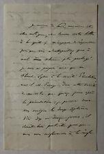 Ernest Pradond (1821 -1909 ) - Schriftsteller  - original signierter Brief