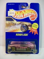 VINTAGE 1991 HOT WHEELS AEROFLASH DIE CAST METAL CAR #191 GOLD WHEELS MATTEL