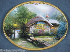 Scenes Of Serenity Collector's Cottage Thomas Kinkade Collector Plate with Coa