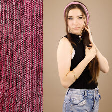Pink Toned 100% Cotton Nepalese Stripe Headband Hair Band Stretch Tube Seamless