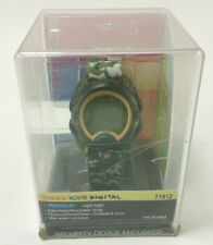 Timex Kids T71912 Green Camouflage Digital Watch with Elastic Fabric Strap NEW!!