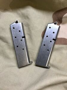 Fits Colt Mustang Plus II & Government 380acp 7rd Stainless Mag 2-PACK