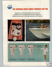 1967 PAPER AD 2 Page Chrysler Outboard Inboard Marine Motor Boating Hydro Vee