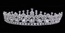 "Rhinestones Bridal Headpiece Silver w/ combs.Silver Headpiece.1.5"" Tall"