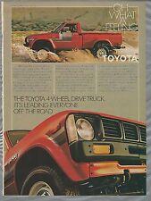 1980 TOYOTA pickup advertisement, Toyota ad,  4x4 pickup