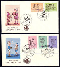 Belgium 1966 Charity Stamps - Two FDC's - Complete Set Of Five Stamps - Mint