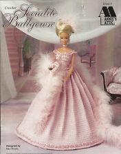 Socialite Ballgown Crochet Barbie Fashion Doll Dress Clothing Pattern Annies NEW