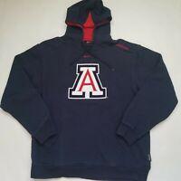 Nike Team Arizona University Wildcats Men's Large Hoodie Embroidered Logo Blue