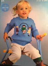 "Knitting Pattern DK Girls Sweater Jumper  Size 20/24"""