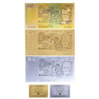 WR 1963 Old Fifty Dollar $50 Note 24K Gold Silver Australia Banknote Set +COA