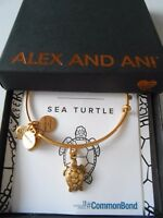 Alex and Ani SEA TURTLE Expandable Bracelet Rafaelian Gold NWTBC