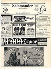 Werbung für Kinderschokolade Igeha Hauswaldt * Champagne Marchier u.a. Ad 1910