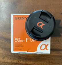 Sony SAL 50mm f/1.4 AF Lens Great Condition