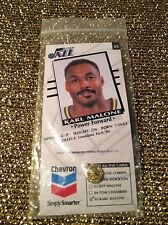 Karl Malone Utah Jazz Chevron Pin Card #3/5 Set