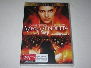 V For Vendetta - Hugo Weaving - Brand New & Sealed - Region 4 - DVD