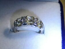 14K Yellow Beryl & Diamond Yellow Gold Ring