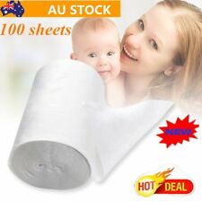 Baby Flushable Biodegradable Cloth Nappy Diaper Bamboo Liners 100 Sheet/Roll AZ