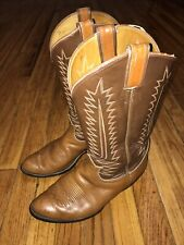 Tony Lama Light Brown Genuine Leather Men's 8EE Cowboy Western Boots