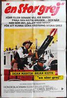 Filmplakat En Stor Grej - Dean Martin Brian Keith / Schweden 1972