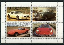 Classic Cars Autombiles MNH Miniatura Foglio di 4 Francobolli Tuva Repubblica