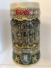 """Coors Beer Stein 1990 Edition """"1935"""" Print Advertisement"""