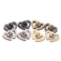 Metal Heart Clasp Buckles Turn Lock Twist Locks For Handbag Bag Purse Craft_w BK