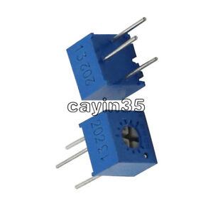 10PCS 3362P-202 3362 P 2K ohm High Precision Variable Resistor Potentiometer UK