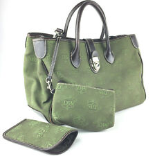 Dooney Bourke Green Large Donegal Crest Leather Canvas Tote + Accessories, $279