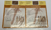 2 Vintage Penney's Cantrece II Nylon Seamless Stockings by Gaymode size A Gala