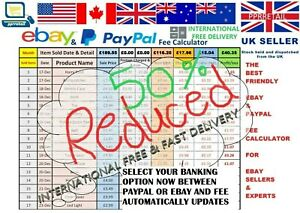 ✔ Int'l Ebay Paypal Profit Calculator & Accounts Yearly & Monthly in basic Excel