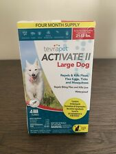 TevraPet Activate Ii Large Dog 21-55 lbs Repels Kills Fleas Eggs Tick Waterproof