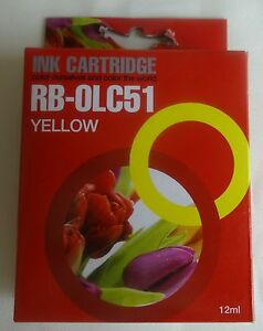 RB-0LC51 12ml geel ink cartridge NIEUW yellow NEW BROTHER DCP MFC Fax