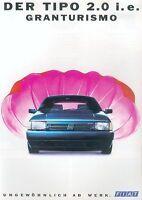 Fiat Tipo 2.0 ie Granturismo Prospekt 2/91 4 S. brochure 1991 Auto PKWs Italien