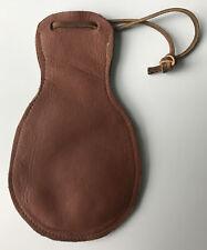 Small Black Powder Muzzleloading Leather Ball Shot Bag Handmade Vintage Pouch